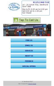 Sandhurst MoT Mobile Website