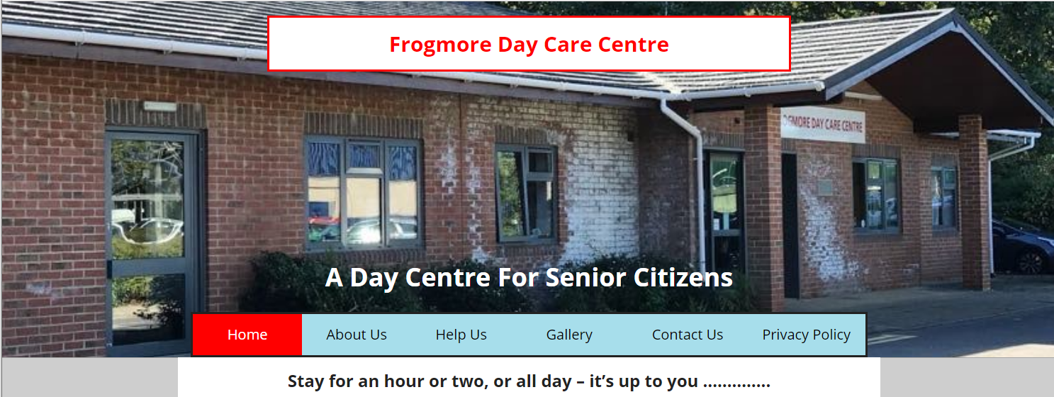 Frogmore Day Care Centre Website