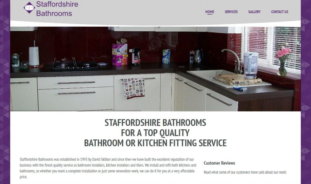 Staffordshire Bathrooms Website