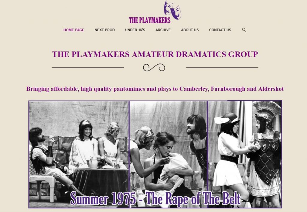 The playmakers amateur dramatic society