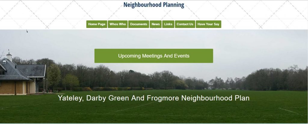 Yateley Parish Neighbourhood Plan Website